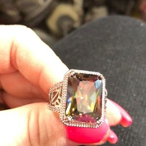 New Smoky Quartz Sterling Women's Ring size 9